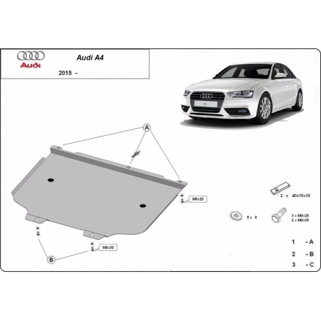 Audi A4 Cover under the gearbox - Metal sheet