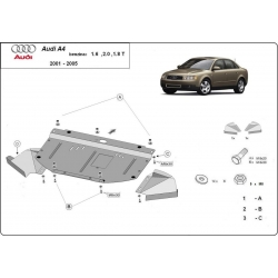 Audi A4 cover under the engine 1.6 – 2.0, 1.8T - Metal sheet