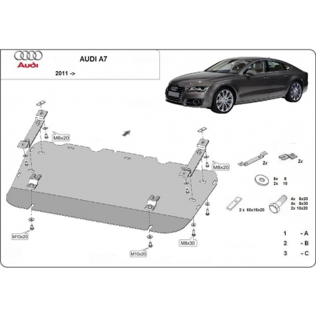 Audi A7 cover under the engine - Metal sheet