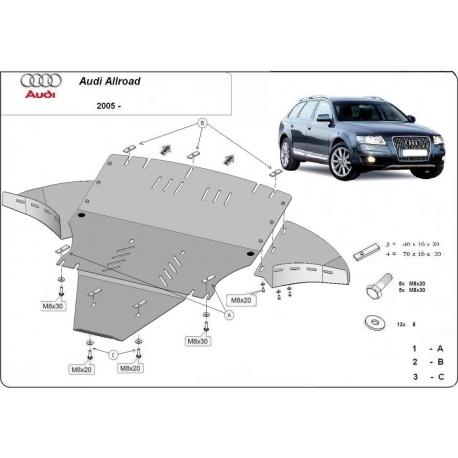 Audi Allroad Unterfahrschutz 2.7, 3.0 - Stahl