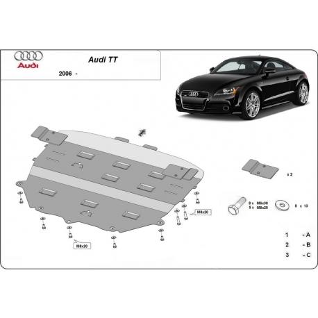 Audi TT cover under the engine - Metal sheet