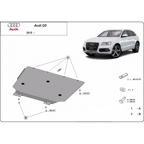 Audi Q5 Cover under the gearbox - Metal sheet