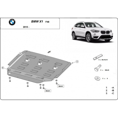 BMW X1 cover under the engine - Metal sheet