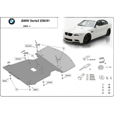 BMW E90 cover under the engine - Metal sheet