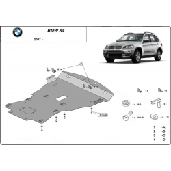 BMW X5 cover under the engine - Metal sheet