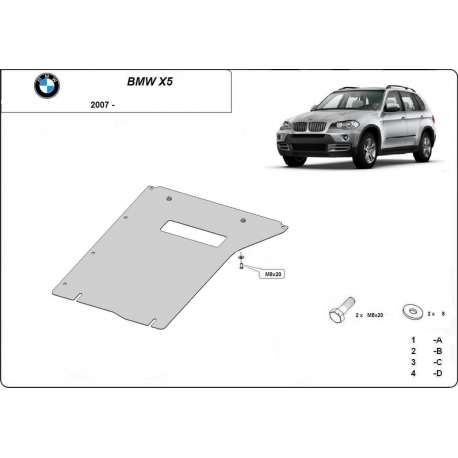 BMW X5 Cover under the gearbox - Metal sheet