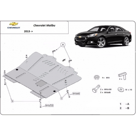 Chevrolet Malibu cover under the engine - Metal sheet