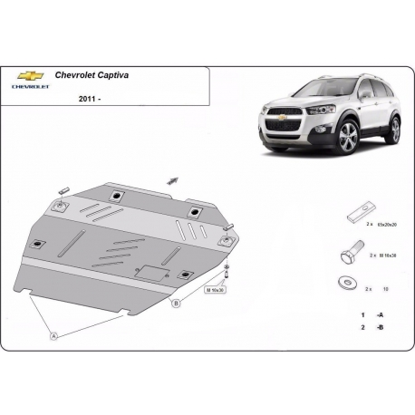 Chevrolet Captiva kryt pod motor - plech