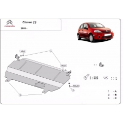 Citroen C3 cover under the engine - Metal sheet