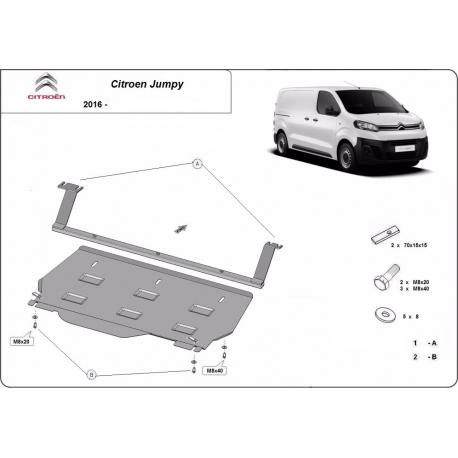 Citroen Jumpy cover under the engine - Metal sheet