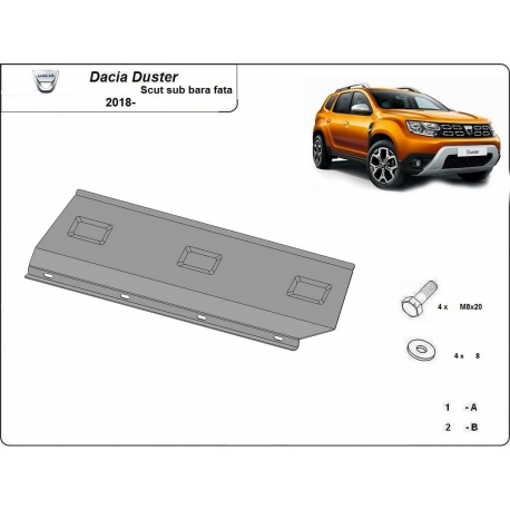 Dacia Duster Cover under the front bumper - Metal sheet