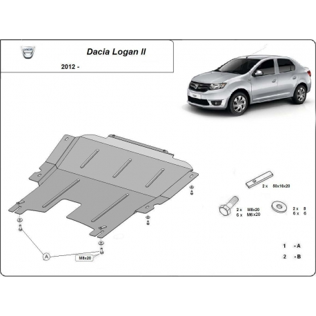 Dacia Logan 2 cover under the engine - Metal sheet