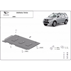 Daihatsu Terios Cover under the gearbox - Metal sheet