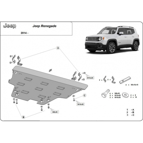 Jeep Renegade cover under the engine - Metal sheet