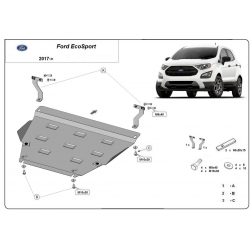 Ford EcoSport cover under the engine - Metal sheet