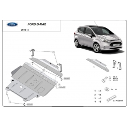 Ford B-Max cover under the engine - Metal sheet