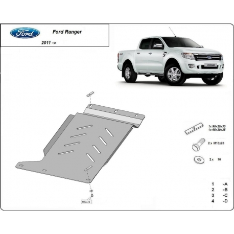 Ford Ranger Cover under the gearbox - Metal sheet