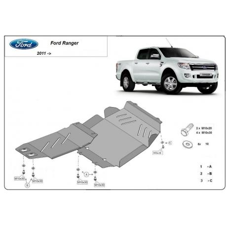 Ford Ranger Unterfahrschutz - Stahl