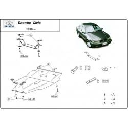 Daewoo Cielo Motorschutz 1.5 16 V - Stahl