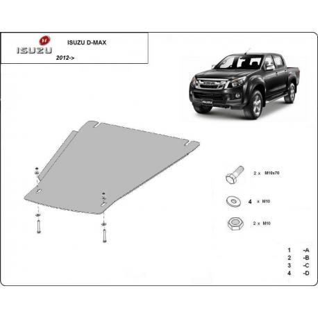 Isuzu D-Max Getriebeschutz - Stahl