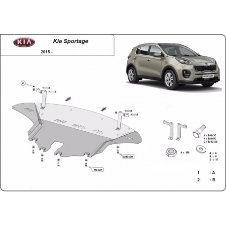 Kia Sportage Unterfahrschutz - Stahl