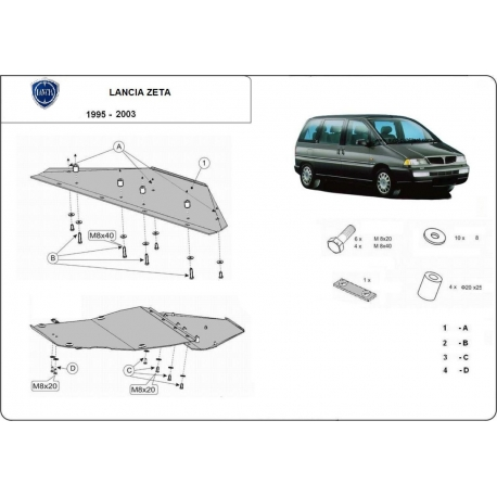Lancia Zeta cover under the engine - Metal sheet