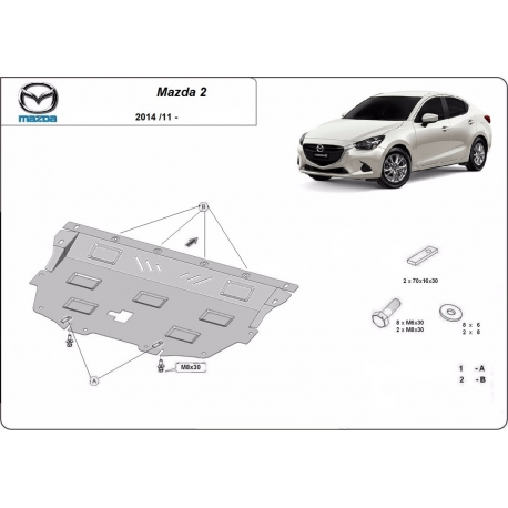 Mazda 2 cover under the engine - Metal sheet