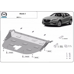 Mazda 3 cover under the engine - Metal sheet