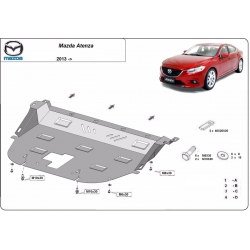 Mazda Atenza cover under the engine - Metal sheet