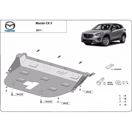 Mazda CX5 cover under the engine - Metal sheet