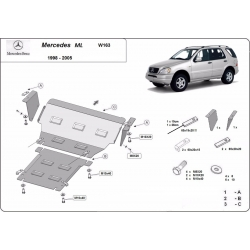 Mercedes ML W163 cover under the engine - Metal sheet