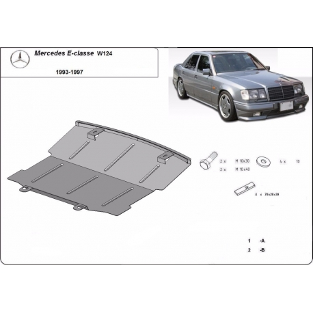 Mercedes E-Classe W124 cover under the engine - Metal sheet