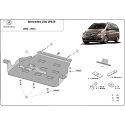 Mercedes Viano W639 Cover under the gearbox 2.2 D - Metal sheet
