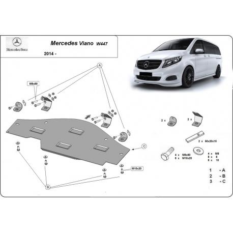 Mercedes Viano W447 kryt pro systém Stop&Go 1.6 D - Metal sheet