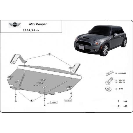 Mini Cooper R56 Unterfahrschutz - Stahl