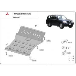 Mitsubishi Montero 3 cover under the engine - Metal sheet
