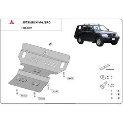 Mitsubishi Montero cover under the engine 3.5 Gdi, 2.5 Tdi, 3.2 Di-d - Metal sheet