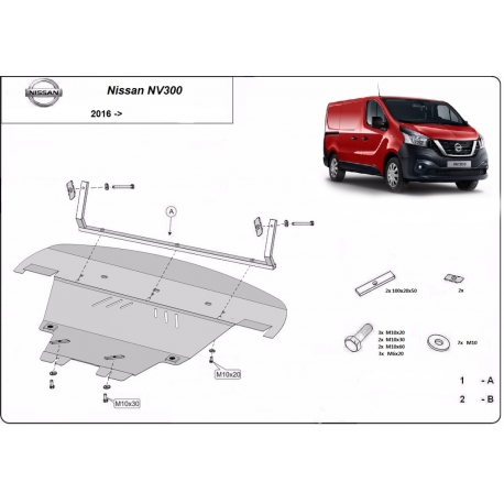 Nissan NV300 cover under the engine - Metal sheet