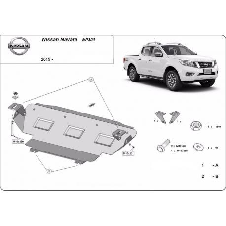 Nissan Navara NP300 cooler cover - Metal sheet