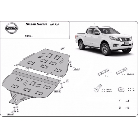 Nissan Navara NP300 Getriebeschutz - Stahl