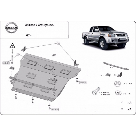 Nissan Pick Up cover under the engine - Metal sheet