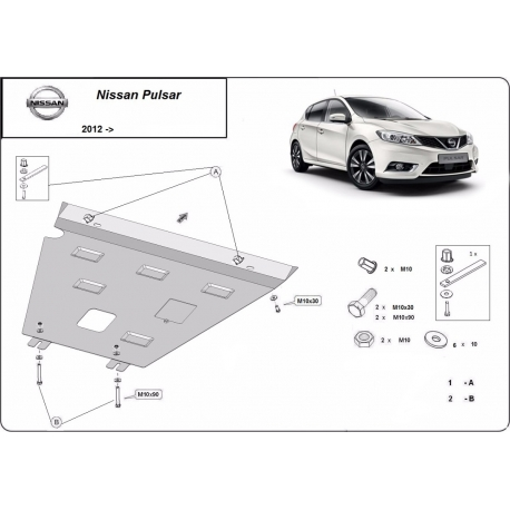 Nissan Pulsar cover under the engine - Metal sheet