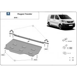 Peugeot Traveller cover under the engine - Metal sheet