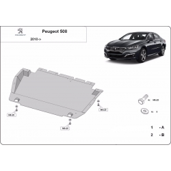 Peugeot 508 cover under the engine - Metal sheet