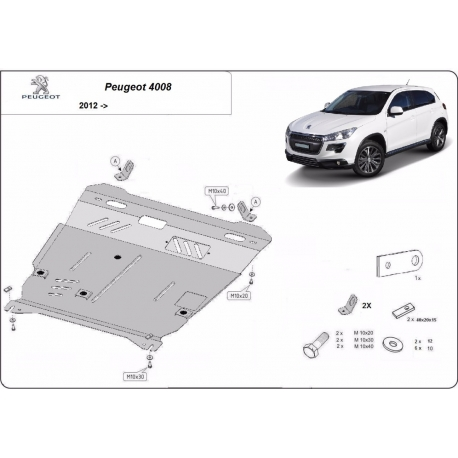 Peugeot 4008 cover under the engine - Metal sheet