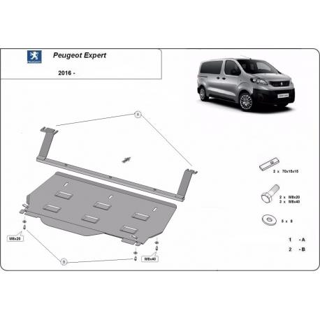 Peugeot Expert Furgon cover under the engine - Metal sheet