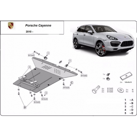 Porsche Cayenne cover under the engine - Metal sheet