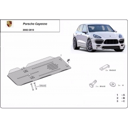 Porsche Cayenne Cover under the gearbox - Metal sheet