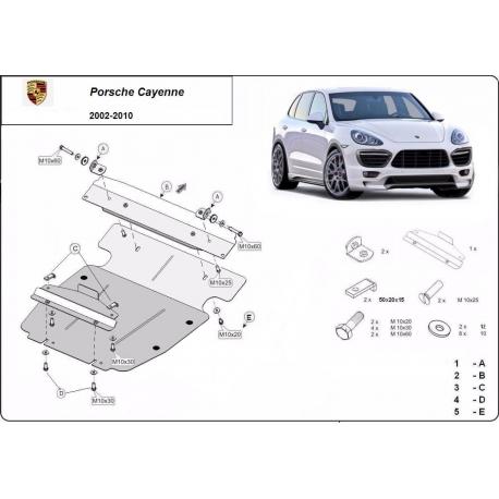 Porsche Cayenne cover under the engine - Metal sheet