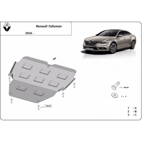 Renault Talisman cover under the engine - Metal sheet